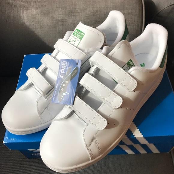 Le Adidas Stan Smith Di Dimensioni 11 Velcro Bianco Verde Poshmark
